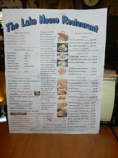carters lake house menu